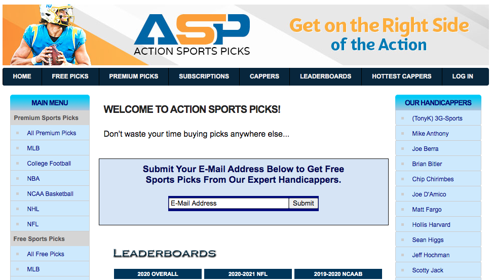 Buy Picks at Action Sports Picks
